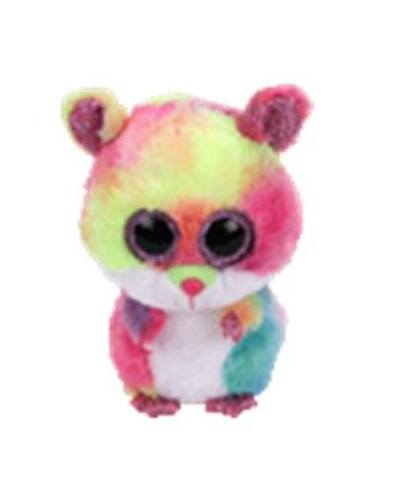 TY BEANIE BOOS RODNEY HAMSTER MULTICOLOR MEDIANO