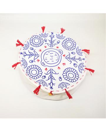 Tortillero  mediano  con fuelle ( Color Azul)