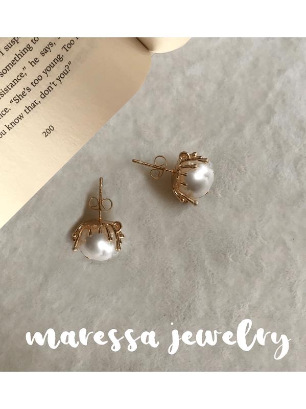 Nuevo plata oro aretes blanco perlas Lang XXL retro 80er ethno alrededor de pedrería