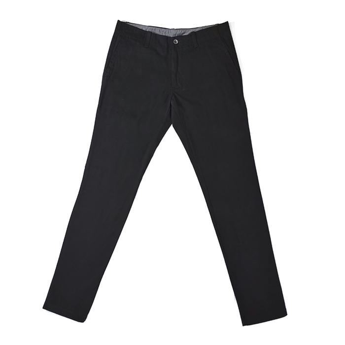 Pantalon Del Pino Negro Chino Slim Fit Casual Siglo 21