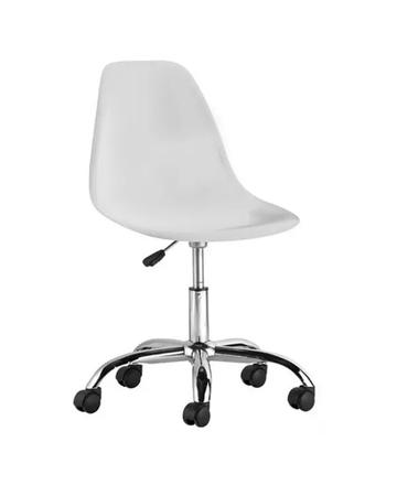 Silla Eames Office Color Blanca con Rodines