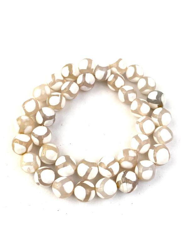 33 semipreciosa piedra perlas howlita laminado 12mm color multicolor nenad-Design e049